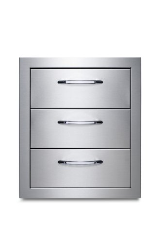 Capital Cooking Equipment Cce3Drwss Precision Series Stainless Steel 3-Drawer Storage Accessory System