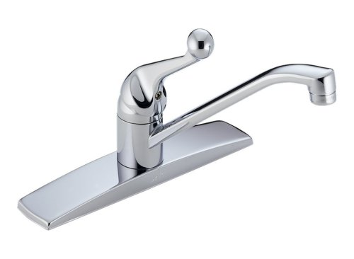 Delta Classic 100-WF Single Handle Kitchen Faucet, Chrome (Not CA/VT Compliant)