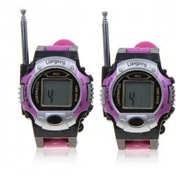 Excellent One Pair of Watch 2-Way Radio Walkie Talkie Interphone Toy with Antenna - Purple