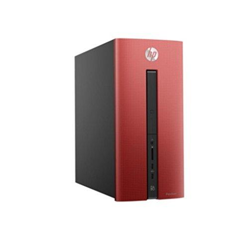 HP Pavilion 550-171ns 3.6GHz A10-8750 Scrivania Nero, Rosso