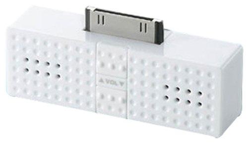 ELECOM iPod用ステレオミニスピーカー Sound Block ホワイト ASP-P300WH