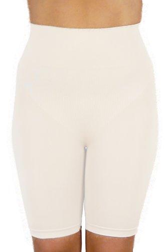 r-dessous Figur formend Bauch weg Mieder Form Panty nahtlose Microfaser Stütz Hose weiss