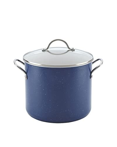 Farberware New Traditions Speckled Aluminum 12-Qt. Covered Stockpot, Blue
