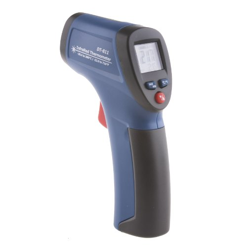 Neewer Dt-811 Compact Ir Infrared White Backlit Lcd Display Thermometer Gun With Laser Pointer -Instant Accurate °C Or °F Measurements From Distance -Provides Non-Contact Temperature Measurement front-554753