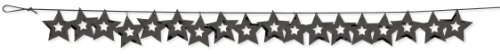 Creative Converting Metallic Stars Confetti Party Garland, Black