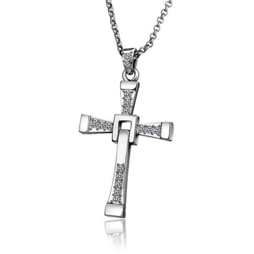 Vin Diesel Style Fast & Furious Men'S Necklace,Dominic Toretto'S Cross Pendant Chain Necklace-Ngs151