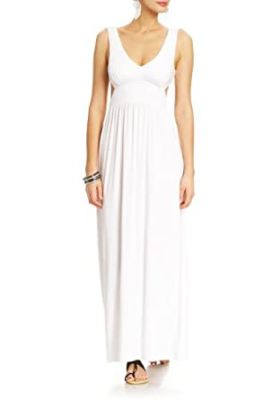2B Shannen Cut-out Maxi Dress 2b Day Dresses White-m