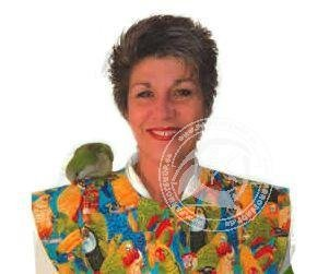 Big Bird Shoulder Cape Color: Parrot