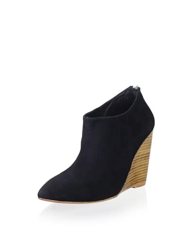 Madison Harding Women's Hurley Stacked Wedge Bootie  - Black