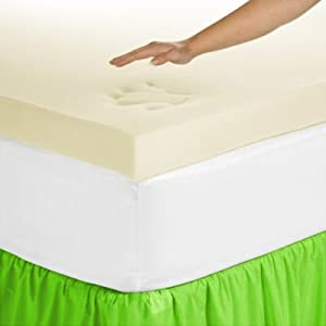 Novaform Pure Comfort 3-Inch Nutratemp™ Temperature Controlled Memory Foam Mattress Topper with Skirt