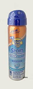 Banana Boat Sun Screen Sport Spray SPF 30 UltraMist Coolzone 1.8 oz, 2 bottles