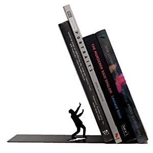 "ARTORI Design ""Falling Books"" Falling Bookend Metal Bookend 1 Pcs Black"