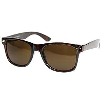 Polarized Retro 80s Classic Wayfarer Retro Sunglasses W109po (tortoise brown, polarized)