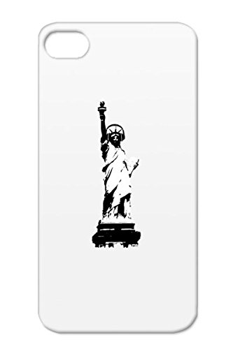 Tpu New York Miscellaneous Statue Of Liberty Dj Music Usa Amerika Lady United States America Deejay Dee Jay Headphone Earphone Party Club Cover Case For Iphone 4/4S White Lady Liberty With Headphone