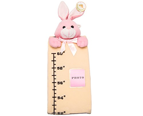 U-b Cuddly Height Measuring Baby Plush Ruler Toy / Pink Bunny, Yellow Charter - 1