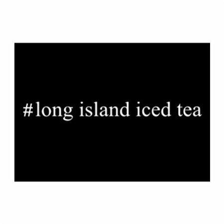 Teeburon Hashtag Long Island Iced Tea Pack Of 4 Decal