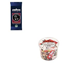 KITLAV0490OFX00013 - Value Kit - Lavazza Tierra Espresso Point Machine Cartridges (LAV0490) and Office Snax Soft amp;amp; Chewy Mix (OFX00013) made by Lavazza