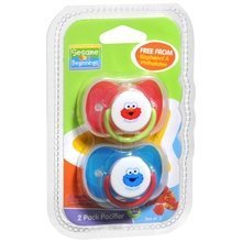Sesame Beginnings - 2 Pack Pacifier (6-12 Months) - 1
