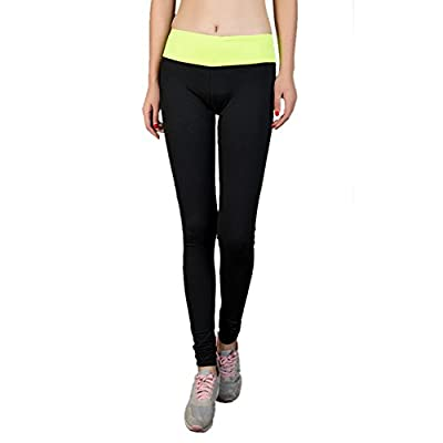 GOGO TEAM Women's Contrast Band Yoga Pants Absolute Workout Running Legging