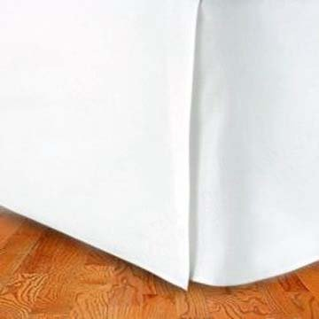 300TC Egyptian Cotton QUEEN Bed Skirt SOLID WHITE BY MARRIKAS (TM)