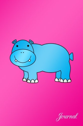 Journal: Hot pink cute blue hippo notebook (Hot Pink Journal compare prices)
