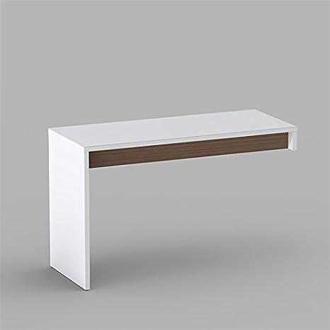 White Walnut Reversible Desk Panel