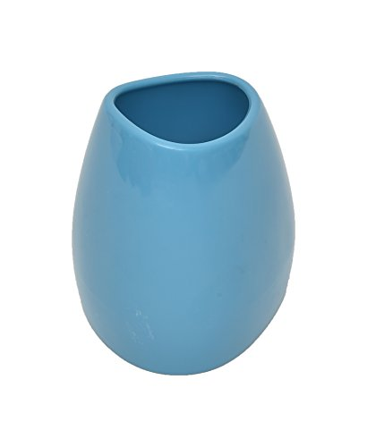 Bathroom Vanity Tumbler ELEGANCE Pebble Durable Plastic (Peacock Blue)
