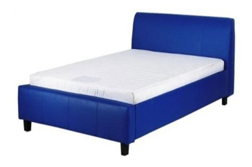Budget Dream 3ft Single Bed Frame in Faux Leather (Blue)