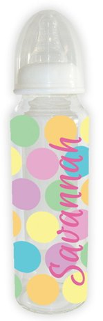 Personalized Baby Bottle - Big Dots 8Oz front-317650