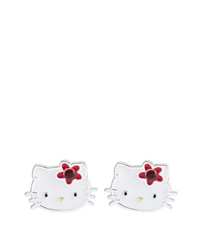 Hello Kitty Sterling Silver January Birthstone Earrings As You See