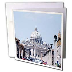 Vacation Spots - Saint Peters The Vatican - Greeting Cards-6 Greeting Cards with envelopes
