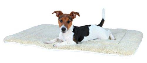 Hundedecke-Lammfell-Optik-95--68-cm-cremeschwarz