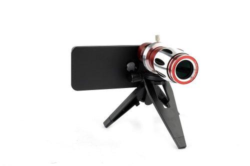 Neewer® 17X Optical Zoom Aluminum Telephoto Telescope Camera Lens + Tripod + Case For Apple Iphone Iphone 4/4S