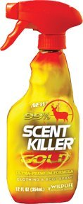 Wildlife Research Scent Killer Gold Clothing and Boot Spray, (12-Ounce)