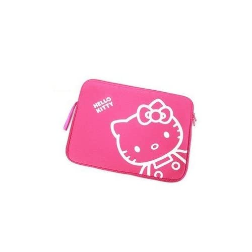 14 inch Cute Rose Pink Hello Kitty Style Laptop Case/Bag