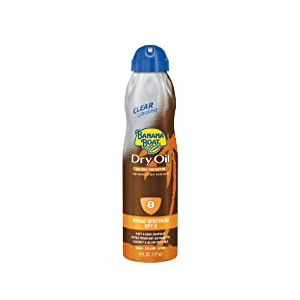 Banana Boat Tanning Ultramist Dry Oil, Spf 8, 6-Ounces (Pack of 3)