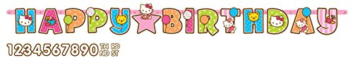 Sanrio Hello Kitty Kids Birthday Party Jumbo Add An Age Letter Banner 10 Ft. (1ct) - 1