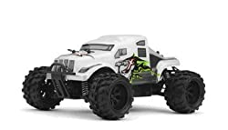 Micro X Racing 1/24 Micro Scale Rc Monster Truck Ready To Run 2.4ghz (White)