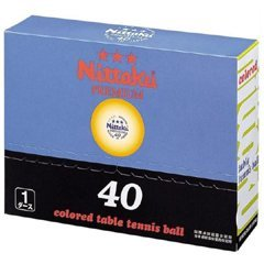 Nittaku Official 3-Star Premium Table Tennis Ball, 40 Mm