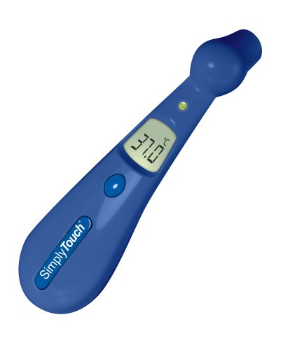 Visiomed Baby VM-200 Bleu Digitales Stirn-Fieberthermometer Simply Touch, mit NTC, Blau
