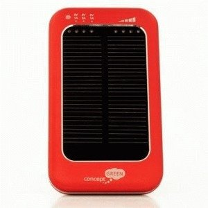 Concept Green Energy Solar Charger 3600 mAh Red