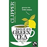 THREE PACKS of Clipper Green Tea With Lemon 25 Bag