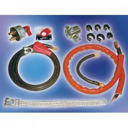 Longacre 48115 Deluxe Battery Cable Kit with Solenoid/Battery Disconnect