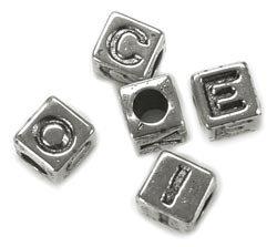 Darice Alphabet Beads 85/Pkg Silver Plated 1930-26; 3 Items/Order