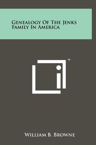 Genealogy of the Jenks Family in America