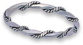 Torsione, design a corda, in argento, con anello 1114. spedito in confezione regalo di prima classe della posta., Argento, 20