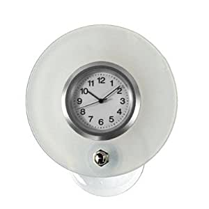 Ofform Suction Cup Clock For Bathroom Mirror Sticky White 70 Mm