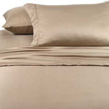 Twin Extra Long Beige Silky Soft bed sheets 100% Rayon from Bamboo Sheet Set