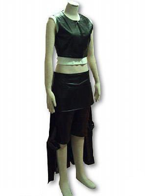 Japanese Anime Final Fantasy VII Cosplay Costume - Tifa Lockhart Leatherette Outfit