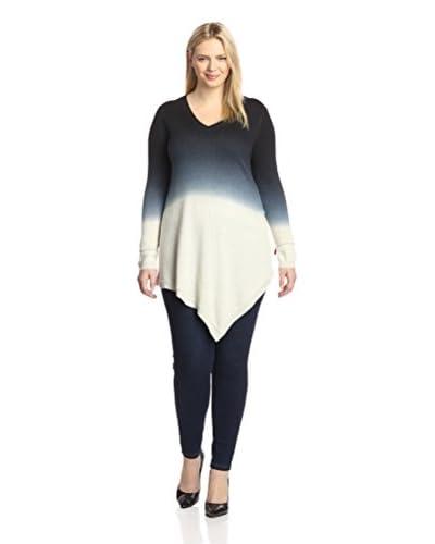 Acrobat Plus Women's Ombre V-Neck Asymmetrical Sweater